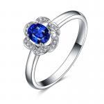 Best Custom 18k Gold Sapphire Diamond Ring For Wedding / Engagement wholesale