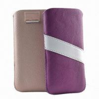Best Mobile Phone Pouches, Ideal for iPhone 5, Made of PU Leather Material, with Retractable Pull-tab wholesale