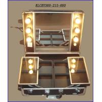 Best Rolling Makeup Desk Case with Lighted Mirror KLCBY560-215-660 wholesale