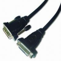 Best DVI Jack to DVI Socket Cable with Molded Plastic Shell and Nickel Connector Plug Contacts wholesale