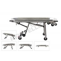 China Stainless Steel Automatic Loading Funeral Stretcher With Detachable Tray on sale