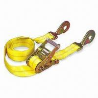 Best Yellow Polyester Ratchet Tie Down, Available with Snap Hook wholesale