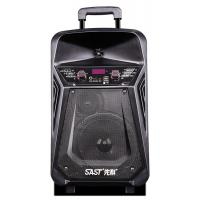Buy cheap Lithium Battery Rechargeable Trolley Speaker With Wireless Microphone / Bluetooth from wholesalers