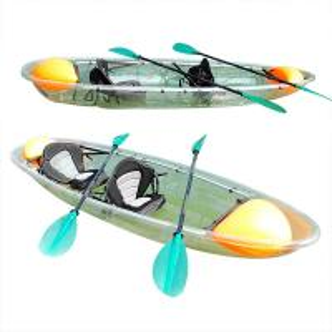 Best 4 Paddlers Clear Plastic Kayak Full Polycarbonate Hull Material 3.1 - 4m Length wholesale