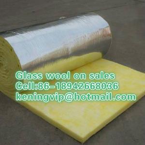 Glass wool blanket with Aluminum foil,fiberglass wool roll on sales