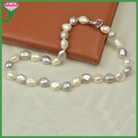 Best wholesale price freshwater pearl fashion color mixing lady baroque pearl necklace wholesale