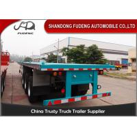 Best Tri Axle 20 Foot Flatbed Trailer , 40ft / 45ft Flatbed Heavy Duty Trailer wholesale