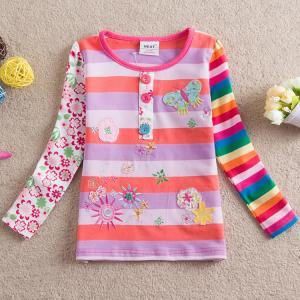 China high quality autumn girls long sleeve tee shirt on sale