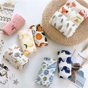 Best Anti Bacterial Muslim Baby Blankets Ultra Absorbent Healthy Eco Printing wholesale