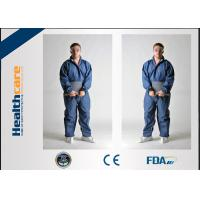 China Type 5 / 6 Disposable Protective Coveralls , Chemical Resistant Coveralls Disposable on sale