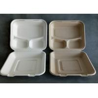 Best 3 Compartment Biodegradable Disposable Microwave Fast Food Container wholesale
