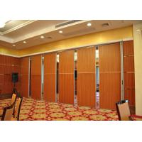 China Melamine Carpet Finish Folding Glass Partitions For Meeting Room wholesale