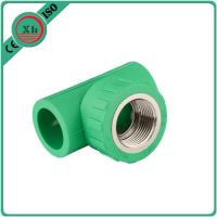 Best Reliable PPR Female Threaded Tee Green / White Color Smooth Internal Surface wholesale
