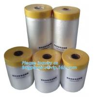 Best Disposable Plastic Car Seat Covers Self Static Cling Masking Film PE Protection Film With Tape wholesale