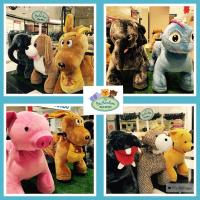 Best Hot Sale Kid Zone Game Motorized Plush Riding Animals You Can Ride wholesale