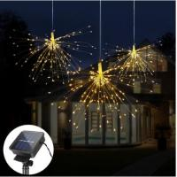 Best 160LED Solar Powered Garden Lamps DIY Fireworks Solar String lights For Garden Decoration wholesale