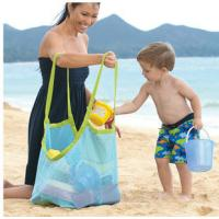 Cheap promotional Clothes Toys Carry All Sand Away Beach Bag Mesh Tote Bag for sale
