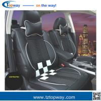 Best square grid high quality fiber leather silk floss insert car seat covers universal use wholesale