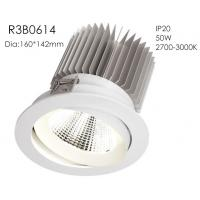 Best Aluminum High Power 50w 3000k White Fixture Spring Install 1400mA 37V Five Star Hotel Downlights/R3B0614 wholesale