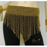 China Beads Belly Dance Scarf Belt Hip Wrap Egypt,ShiningGold on sale