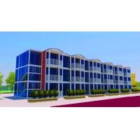 China 3 Layers Prefab Commercial Buildings , Flexible Assembly Commercial Steel Building Kits on sale