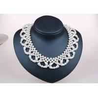 Best Single Strand Handcrafted Pearl Jewelry Necklace For Bridesmaids Unique Design wholesale
