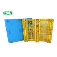 Best Rackable Single Faced Plastic Pallets, Heavy Duty Plastic Shipping Pallets With 8 Steel Tubes wholesale