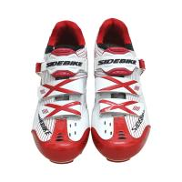 China Red And White Mountain Cycling Shoes Geometry Design Body High Pressure Resistance on sale