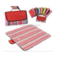 Buy cheap Red Stripes Outside Foldable waterproof Picnic mat Blanket for Camping / Travel from wholesalers