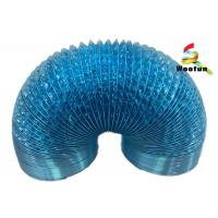 Best Ventilation application single or double layer aluminum foil and polyester blue flexible duct wholesale