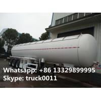 Best CLW brand 58500Liters bulk lpg gas trailer with sunshield cover for sale, best price propane gas tank trailer for sale wholesale