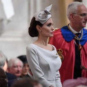 Cheap 2018 Angelina Jolie Same Elegant White Dress Split Celebrity High Quality Women for sale