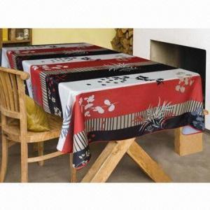 Best 100% polyester waterproof printed table cloth wholesale
