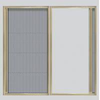Best Floding screen window & door for sale with Aluminum frame and pleated screen mesh wholesale