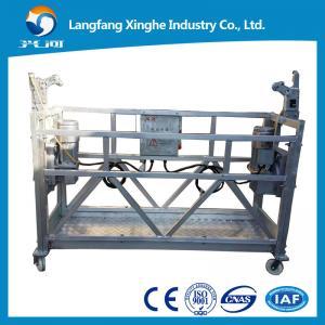 Best zlp800 hot galvanzied steel wire rope platform / suspended electric scaffolding / construction gondola wholesale