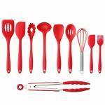 Best 10PCS Premium Amazon Top Seller Cooking Set Heat-Resistant Flexible Kitchen Tools Gadgets Silicone Kitchen Utensil wholesale