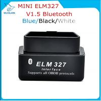 Best Black V1.5 Super Bluetooth ELM 327 optional Version 1.5 elm327 interface supports Torque Car Code wholesale