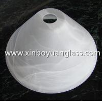 Pressed Glass Lamp Shade With Alabaster Effect