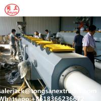 China pipe extrusion line SJSZ80/156 extruder   PVC CPVC UPVC pipe extrusion line on sale