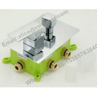 Cheap concealedsquare brass showerfaucet,Bathroom best price concealed bath shower mixer tap with diverter for sale