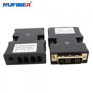Best EDID SM 4core LC Dvi To Fiber Optic Converter 1000 Meters Distance wholesale