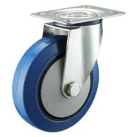 China Elastic rubber castor wheels on sale