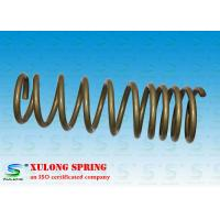 Best 14mm Wire Off Road Automotive Coil Springs , Vehicle Coil Springs Gold Powder Coated XL-1118 wholesale