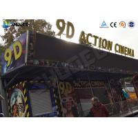 Best 12 / 16 / 24 People 9D Movie Theater With Motion Chair For Amusement Park wholesale