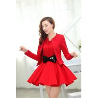 China Long Sleeve womens dress suits V Neck Sleeveless Wedding formal dresses on sale