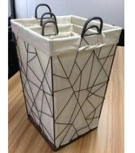 China Set 3 Geo Decorative Wire laundry basket on sale