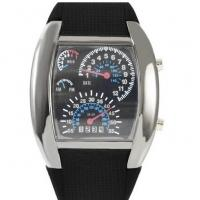 China Novelty Led Display Sport Wrist Watches Fashion Mens Black Rubber Band on sale