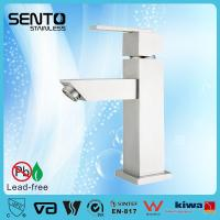 China Stainless steel deck mount single hole basin faucet on sale