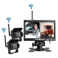 Best Wireless reversing camera for heavy duty truck, OTR 7inch two channels wholesale