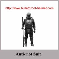 Anti riot suits with anti-riot baton and helmet